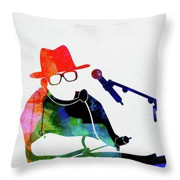 Run Dmc Watercolor Throw Pillow