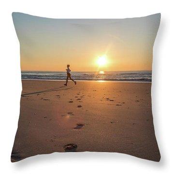Run Free Throw Pillow