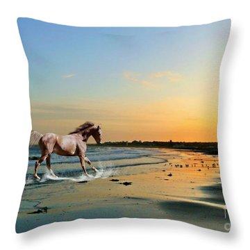 Running Free Throw Pillow