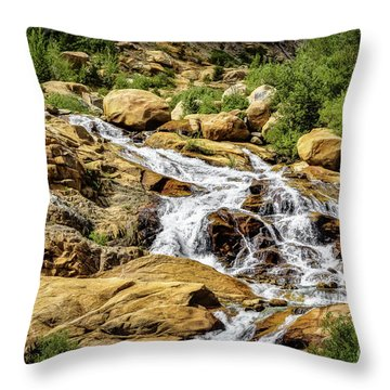Throw Pillow featuring the photograph Runoff by Jon Burch Photography