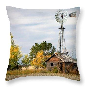 Rural North Dakota Throw Pillow