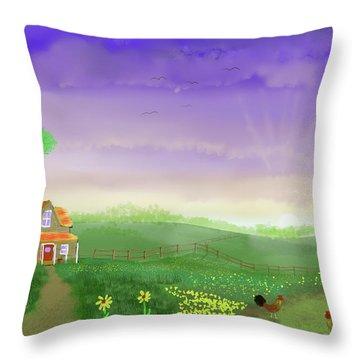 Rural Wonder Throw Pillow