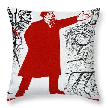 Russian Revolution, October 1917  Vladimir Ilyich Lenin Throw Pillow