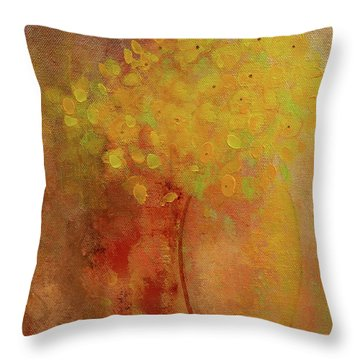 Throw Pillow featuring the painting Rustic Still Life by Valerie Anne Kelly