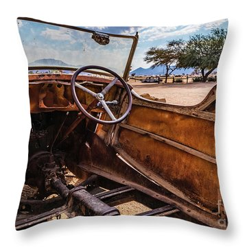 Rusty Car Leftovers Throw Pillow