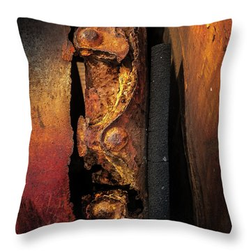 Rusty Colours Throw Pillow