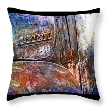 Rusty Rainbow Throw Pillow