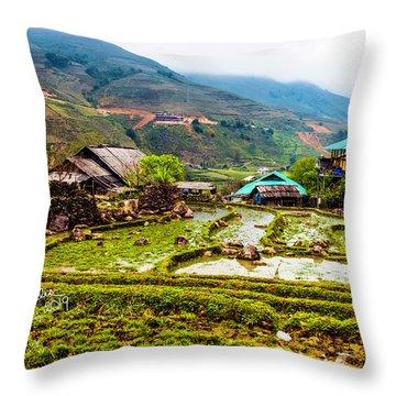 Sa Pa, Vietnam Landscape Throw Pillow
