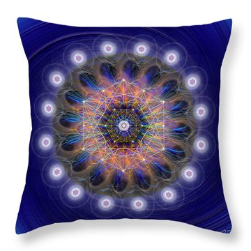 Throw Pillow featuring the digital art Sacred Geometry 726 by Endre Balogh