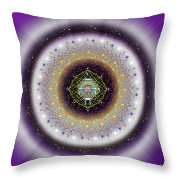 Throw Pillow featuring the digital art Sacred Geometry 729 by Endre Balogh