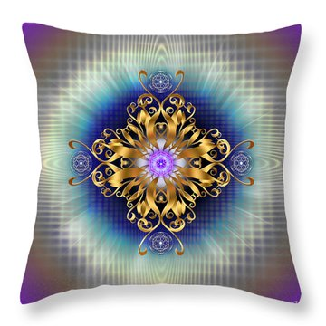 Throw Pillow featuring the digital art Sacred Geometry 730 by Endre Balogh