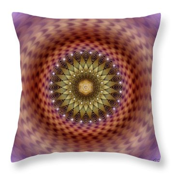 Throw Pillow featuring the digital art Sacred Geometry 735 by Endre Balogh