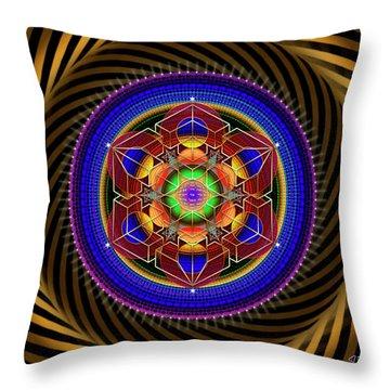 Sacred Geometry 763 Throw Pillow