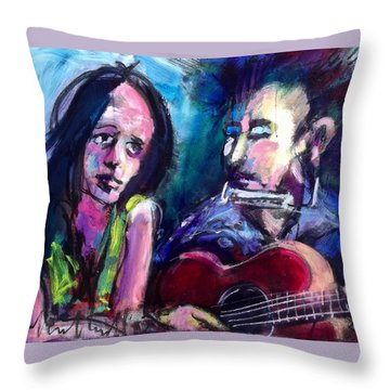 Sad Eyed Lady Throw Pillow