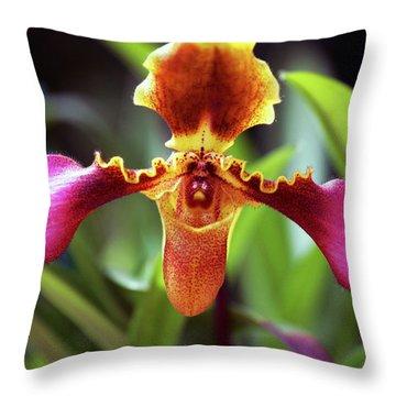 Sad Orchid Throw Pillow
