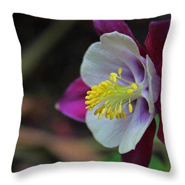 Saffron Stamens I Throw Pillow