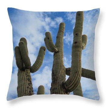 Saguaro Clique Throw Pillow