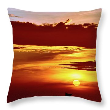 Sail Away... Throw Pillow