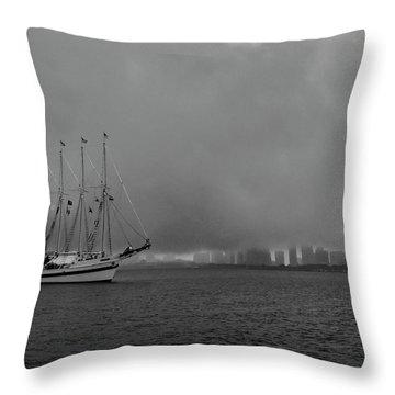 Sail In The Fog Throw Pillow