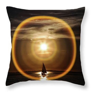 Sail In The Halo Throw Pillow