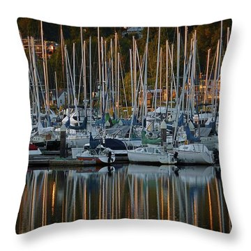 Throw Pillow featuring the photograph Sailboat Reflections by Patricia Strand