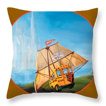 Sailbus Throw Pillow
