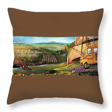 Sailbus Flight Home Throw Pillow