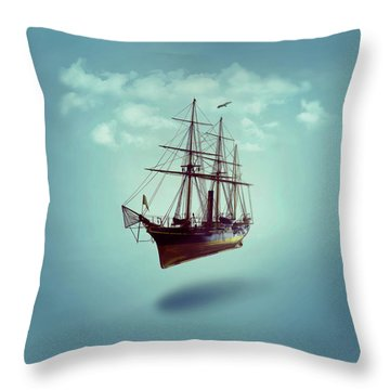 Throw Pillow featuring the digital art Sailed Away by ISAW Company