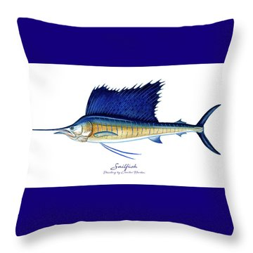 Sailfish Throw Pillow