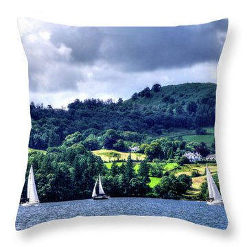 Sailing In Heaven Throw Pillow