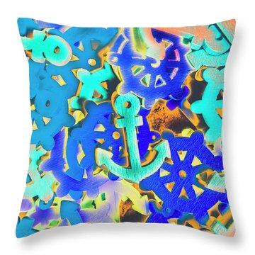 Sailing Pop Art Throw Pillow