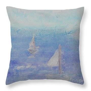 Throw Pillow featuring the painting Sailing Subtly by Kim Nelson