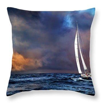 Sailing The Winedark Sea Throw Pillow
