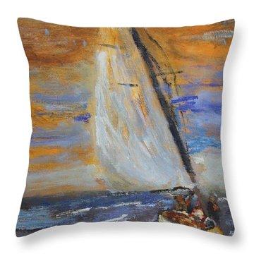 Sailng Nto The Sun Throw Pillow