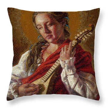 Saint Cecelia Mosaic Throw Pillow