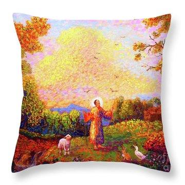 Franciscan Monastery Throw Pillows