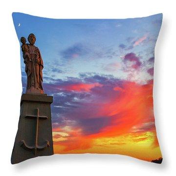 Saint Joseph Sunset  Throw Pillow