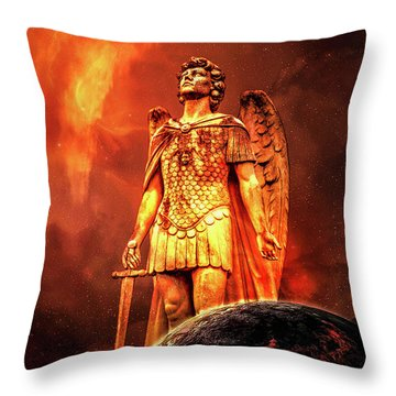 Throw Pillow featuring the photograph Saint Michael by Michael Arend