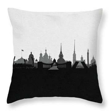 Saint Petersburg Cityscape Art Throw Pillow