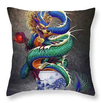 Sake Dragon Throw Pillow