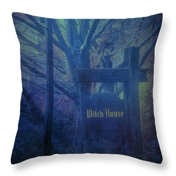Throw Pillow featuring the photograph Salem Massachusetts  Witch House by Jeff Folger