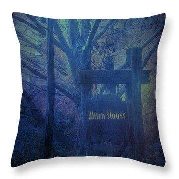 Salem Massachusetts  Witch House Throw Pillow
