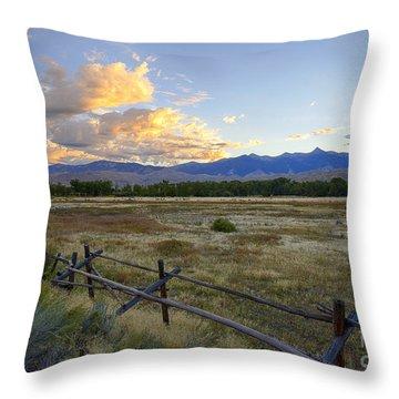 Salmon Valley Dawn Throw Pillow