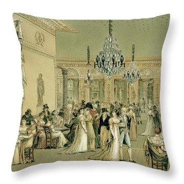 Salon At Cafe Frascati, Paris  Throw Pillow