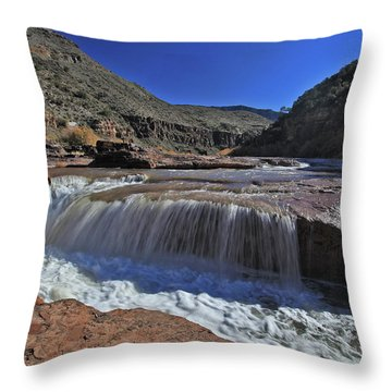 Salt Falls Throw Pillow