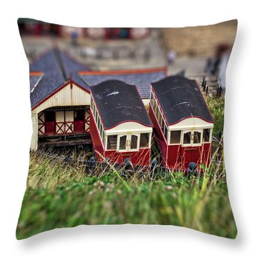 Saltburn Tramway Throw Pillow