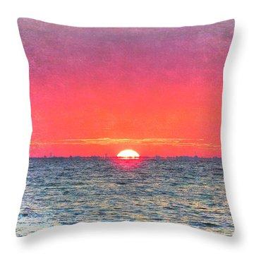 Salty Sunrise Throw Pillow