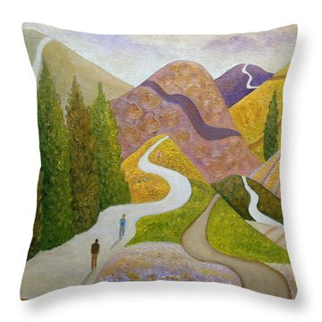 Same Direction Throw Pillow