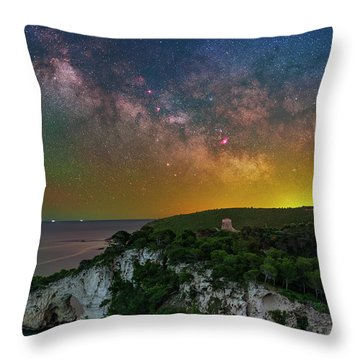 San Felice Arch And Tower Throw Pillow