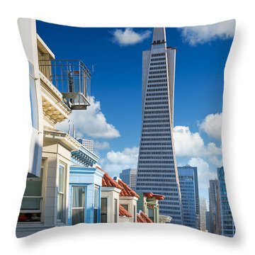 Office Buildings Throw Pillows